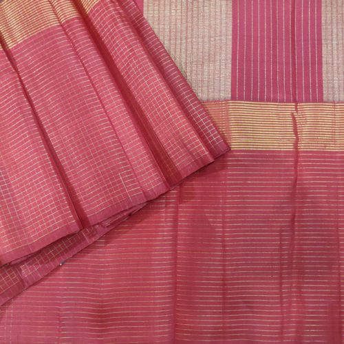 Garnet And Maroon Vaira Oosi Kanchipuram Silk Saree-0
