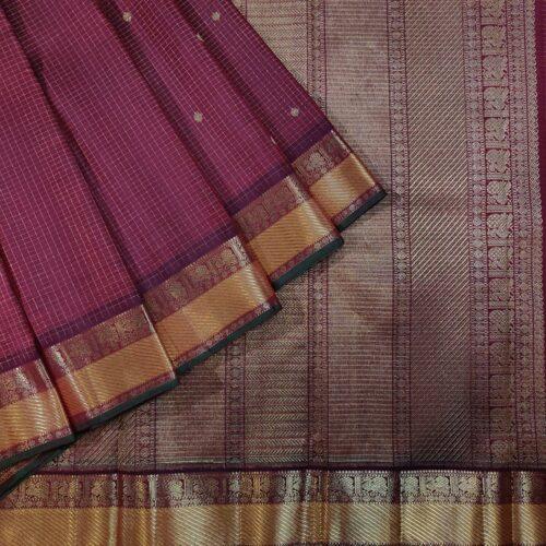 Maroon Vaira oosi Kanchipuram Handloom Silk Saree-0