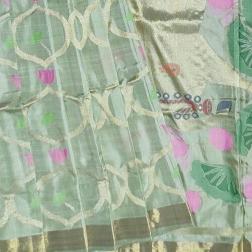 Green Handloom Uppada Sillk Saree