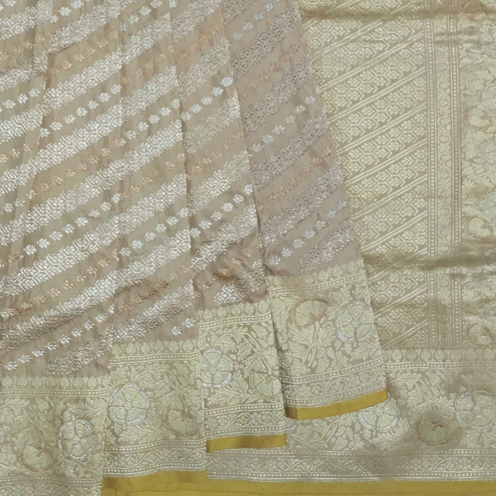 Grey Banarasi Saree