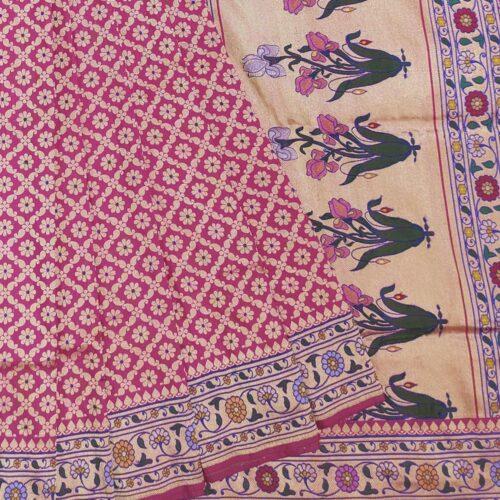 Pink Banarasi Saree