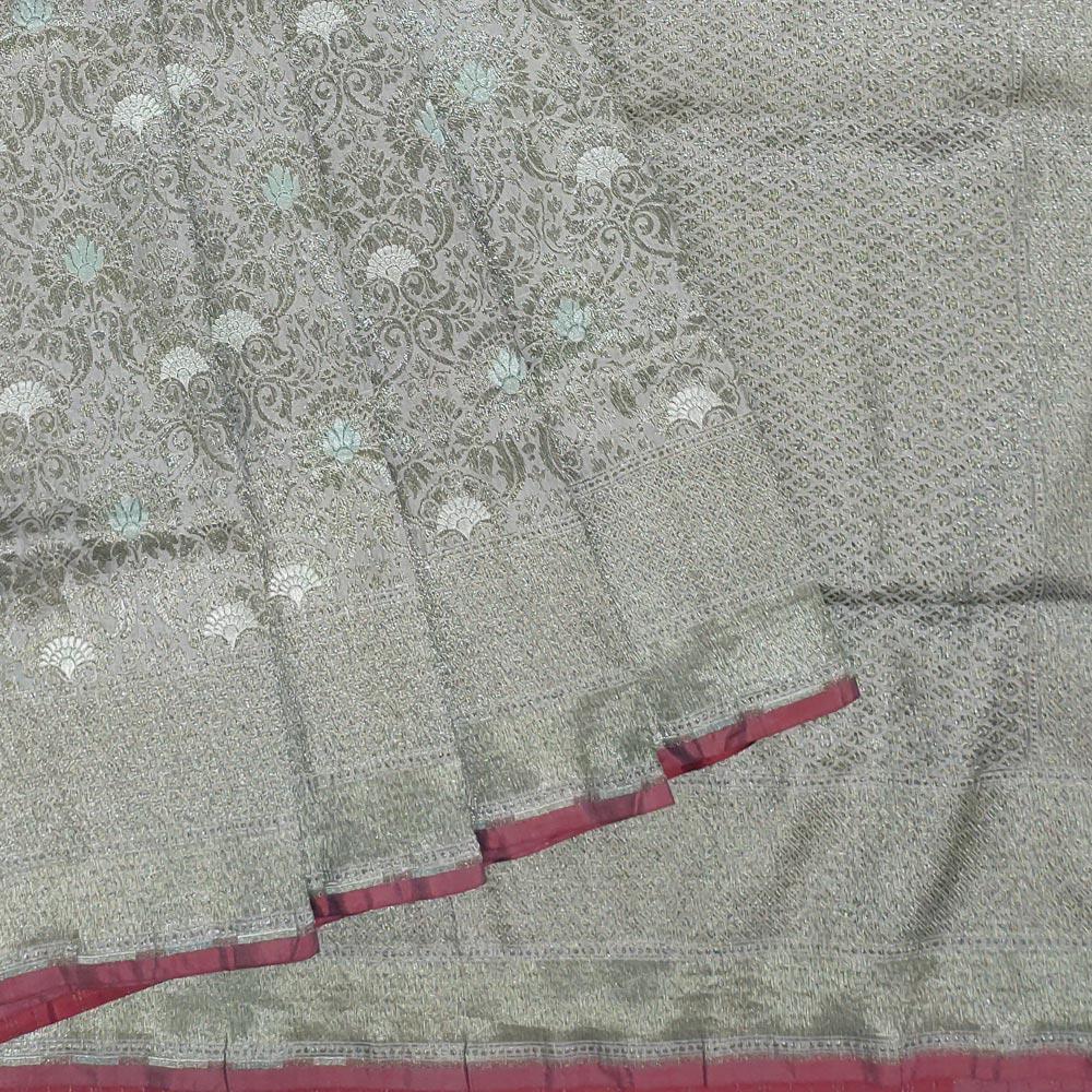 Grey Silk Saree