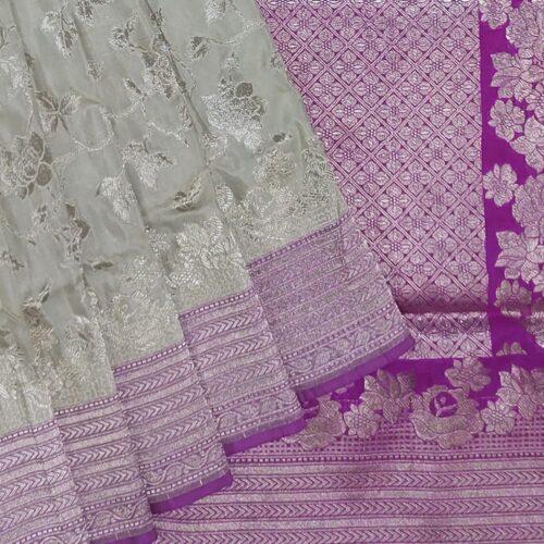 Ivory Banarasi Saree