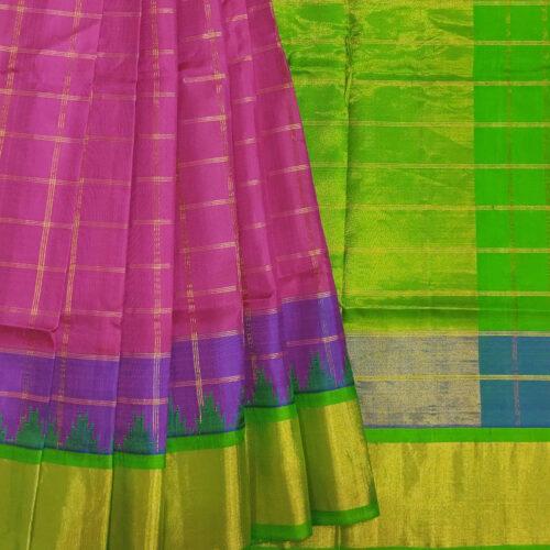 Pink Gadwal Handloom Silk Sarfee
