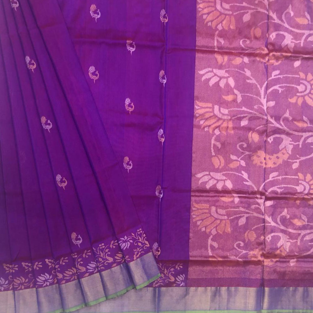 Purple Uppada Silk Saree