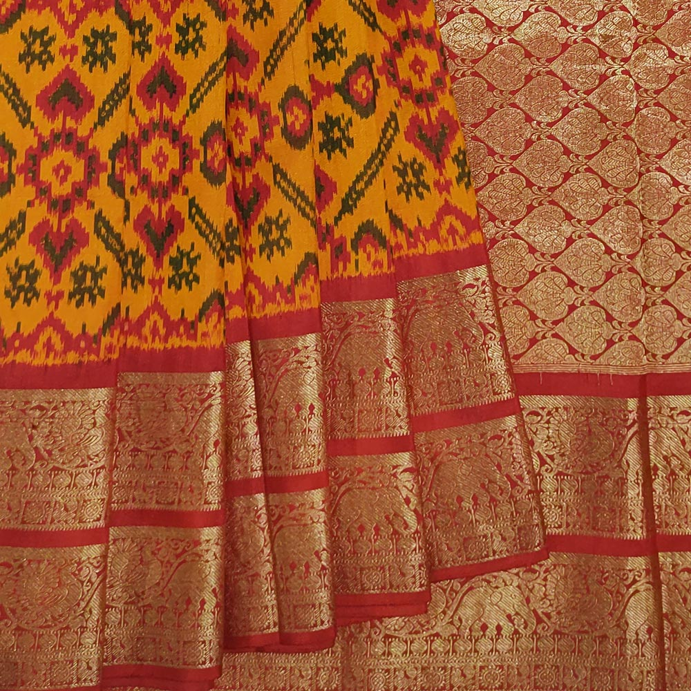 Orange Patola saree