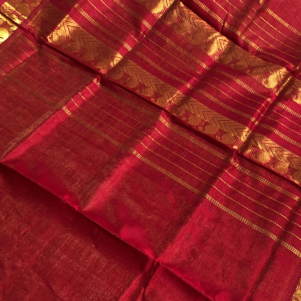 Red Kajiwaram Silk Saree