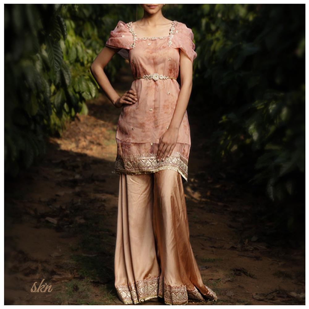 Rosegold Sharara Set