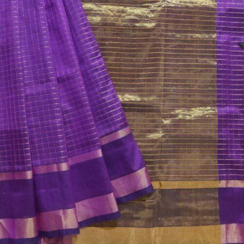 Purple Silk Cotton Saree