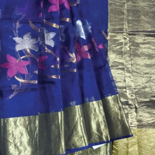 Blue Kota Zari Saree