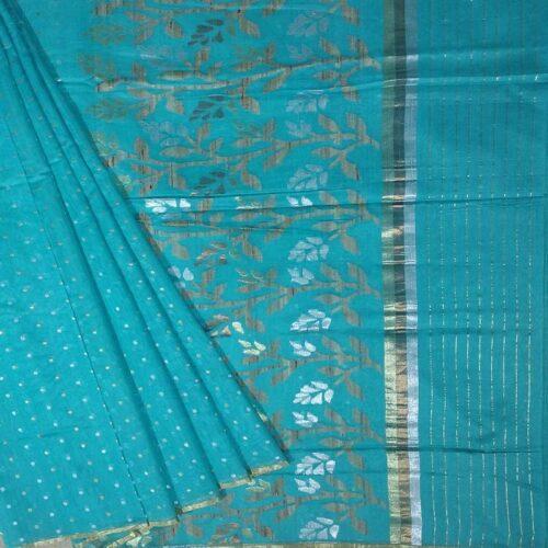 Light Blue Banarasi Saree