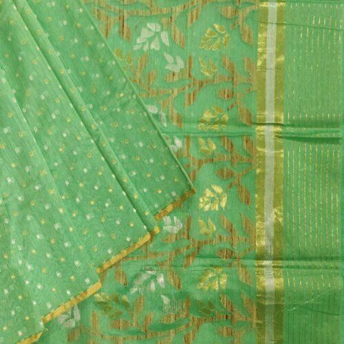Pista Green Banarasi Saree