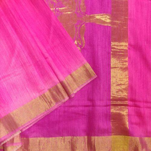 Madhurya Pink Bnarasi Silk Saree