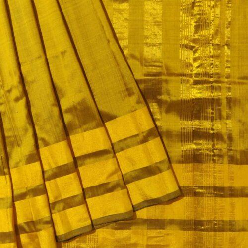 Madhurya Golden Yellow Uppada Saree