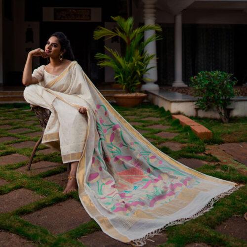 Handloom Cotton Uppada saree